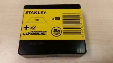 400 x Original Stanley 1992, Heavy Duty Straight Blades, 2 notch, Stanley 11-921A